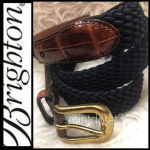 Brighton Leather Trim Belt